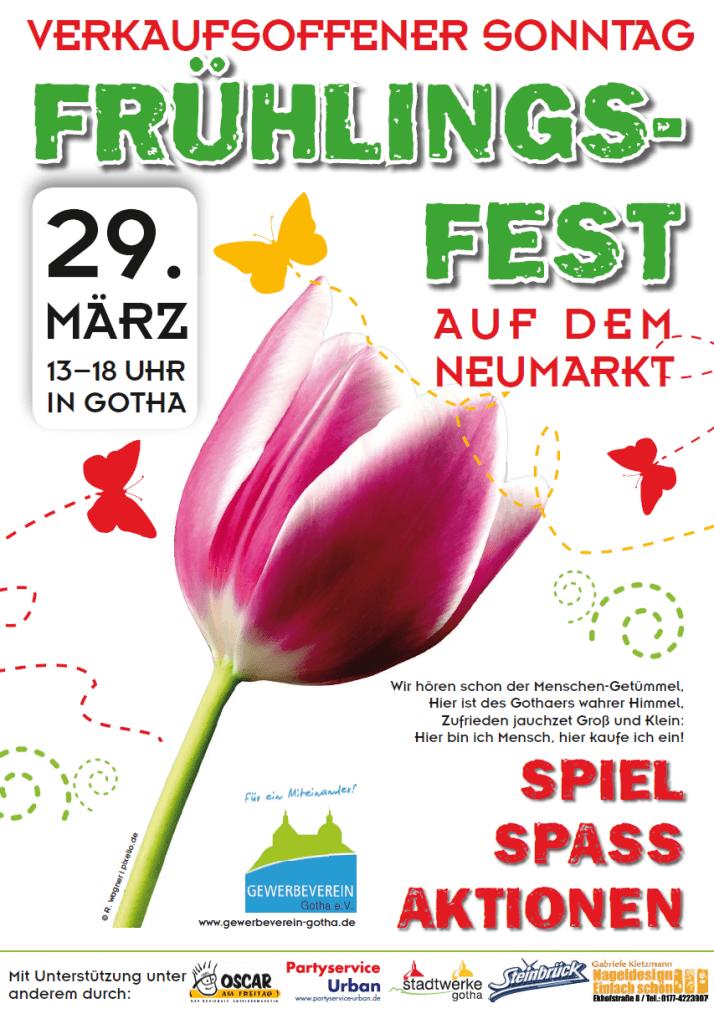 Frühlingsfest am verkaufsoffenen Sonntag.