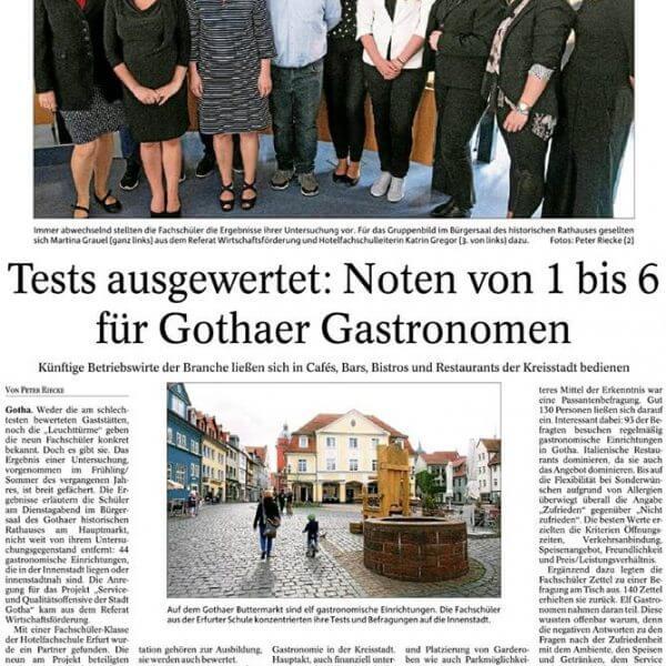 Auswertung Gothaer Gastronomen